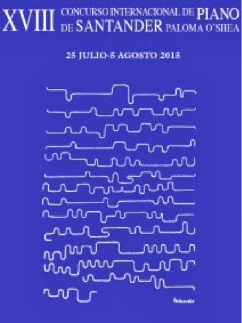 Cartel del 'Concurso Internacional de Piano de Santander Paloma O'Shea'