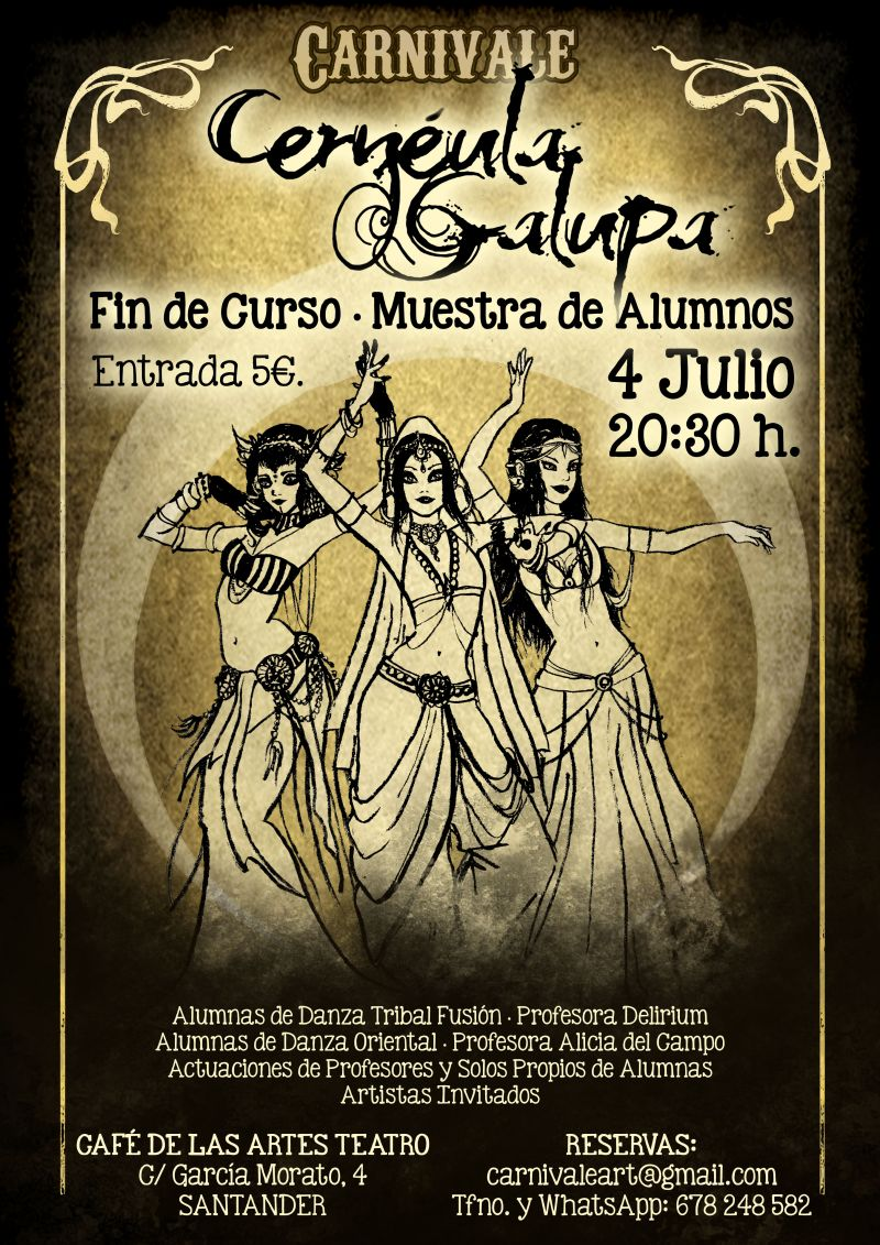 Actuación de danza, Cernéula Galupa.