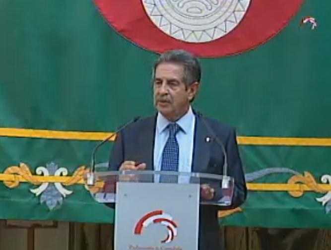 Miguel Ángel Revilla en su discurso de toma de posesión