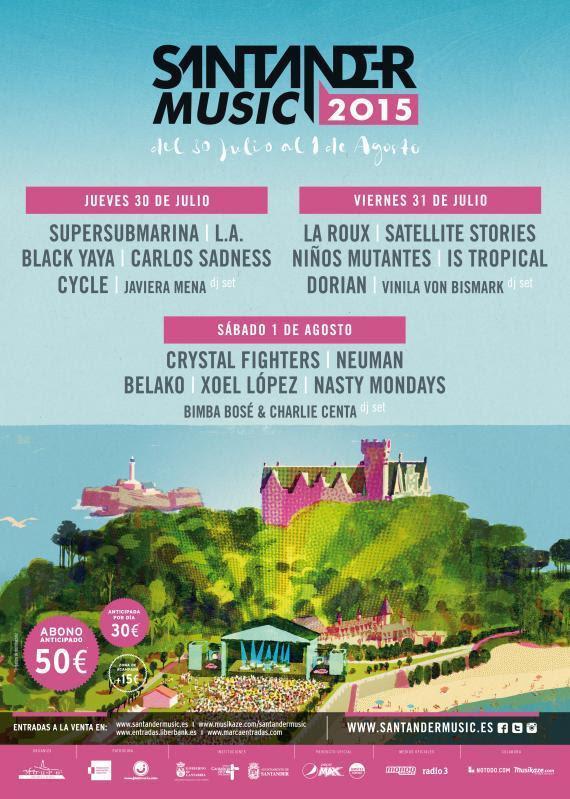 Cartel del 'Santander Music 2015'