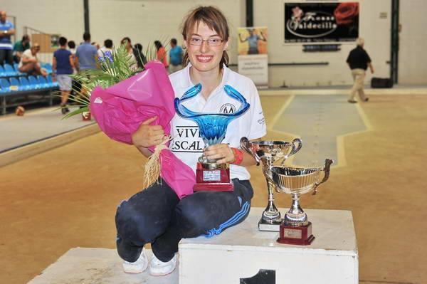 Iris Cagigas en la victoria de uno de los concursos.