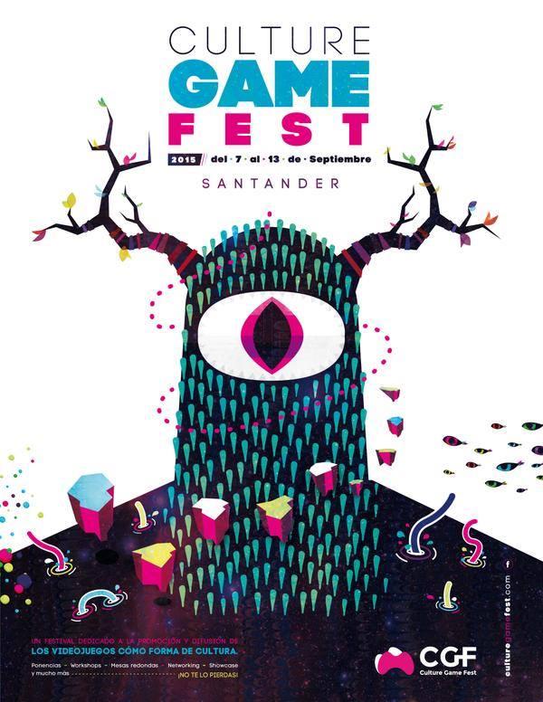 Cartel del Cultural Game Fest, de Omar Bermúdez.