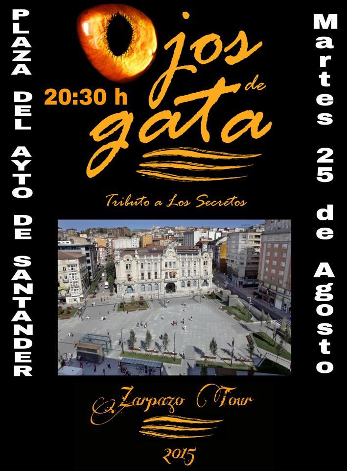 Cartel del concierto de Ojos de Gata.