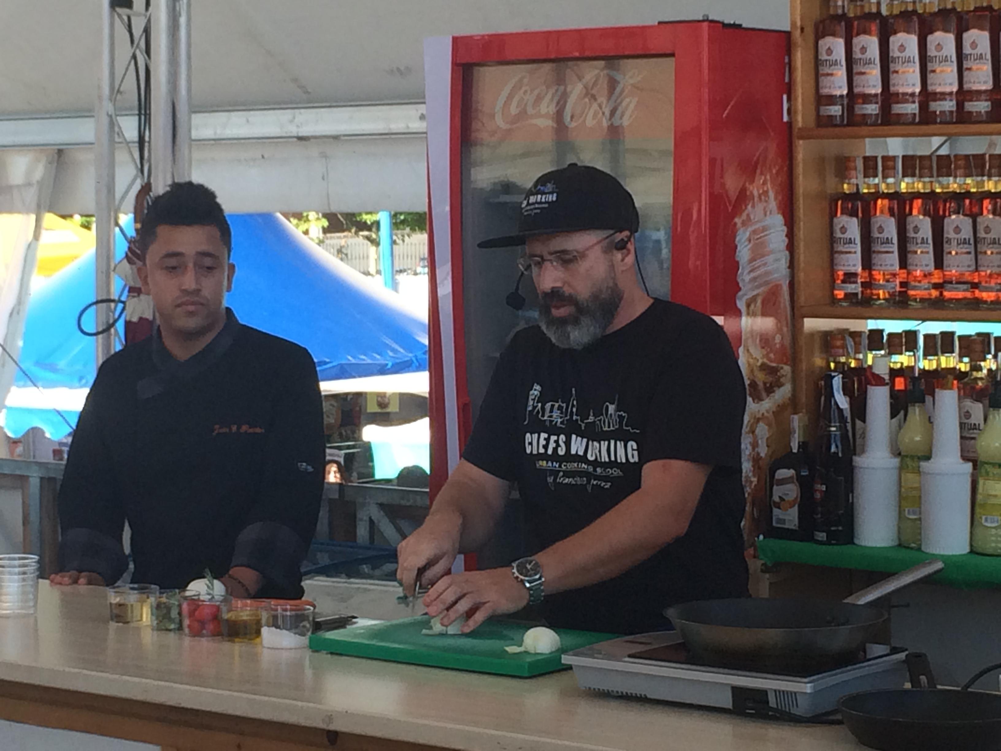 Francisco Jeréz, participando en el show cooking