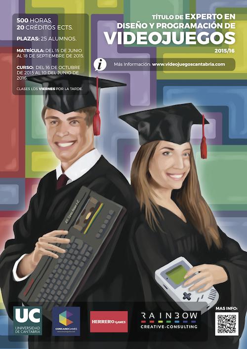 Cartel del curso de Experto en Diseño y Programación de Videojuegos.