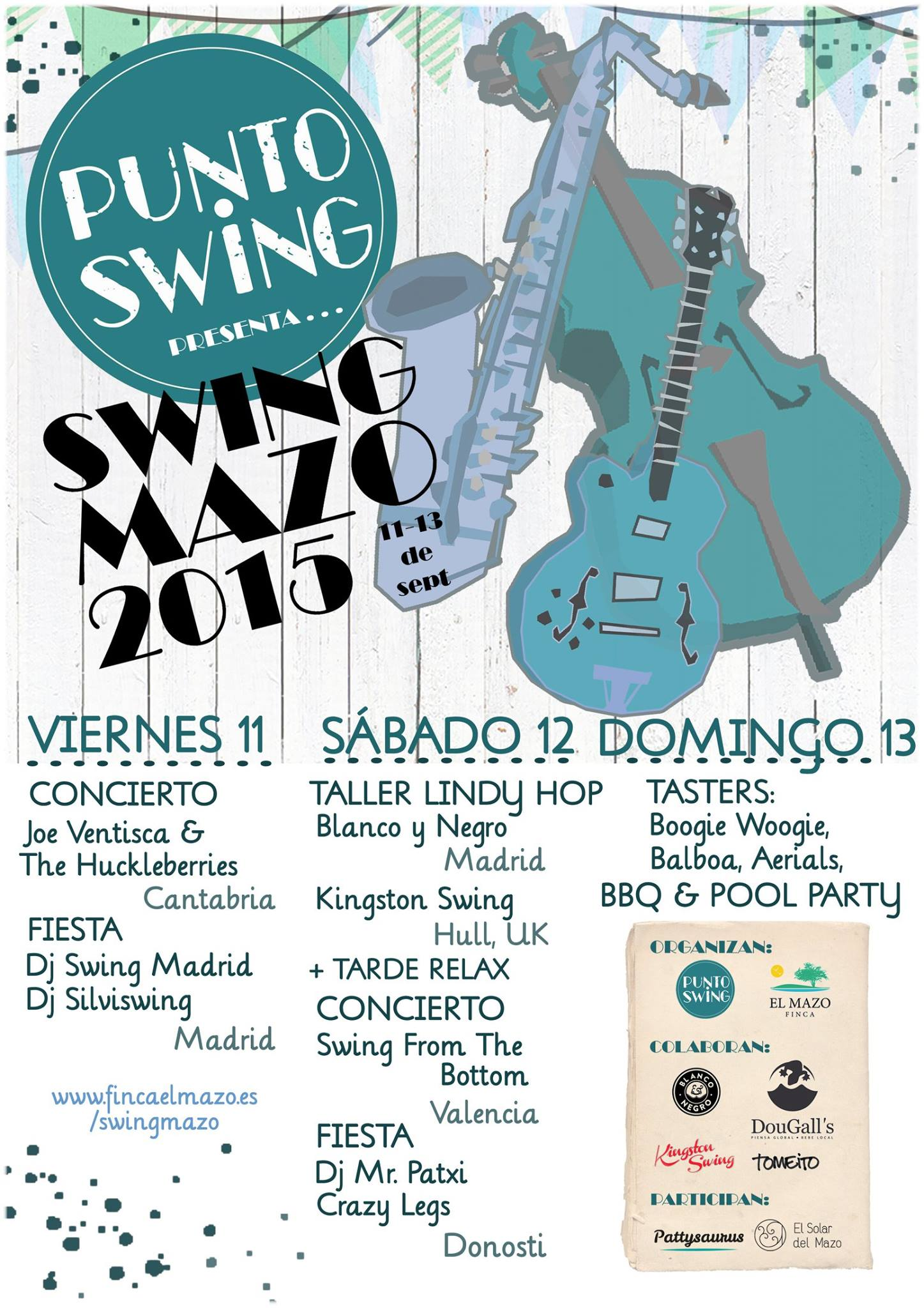 Cartel con la programación del Swingmazo 2015.