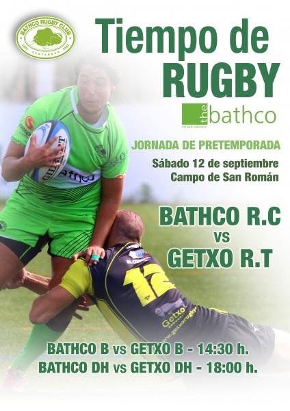 Cartel del amistoso entre Bathco y Getxo