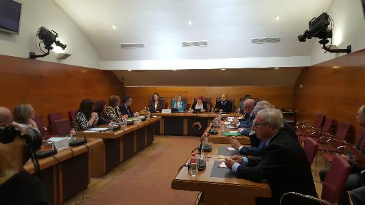 Miembros de la Comisión de Universidad, investigación, Medio Ambiente y Política Social.