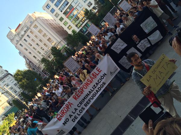 Concentración en Santander en favor de los refugiados sirios.