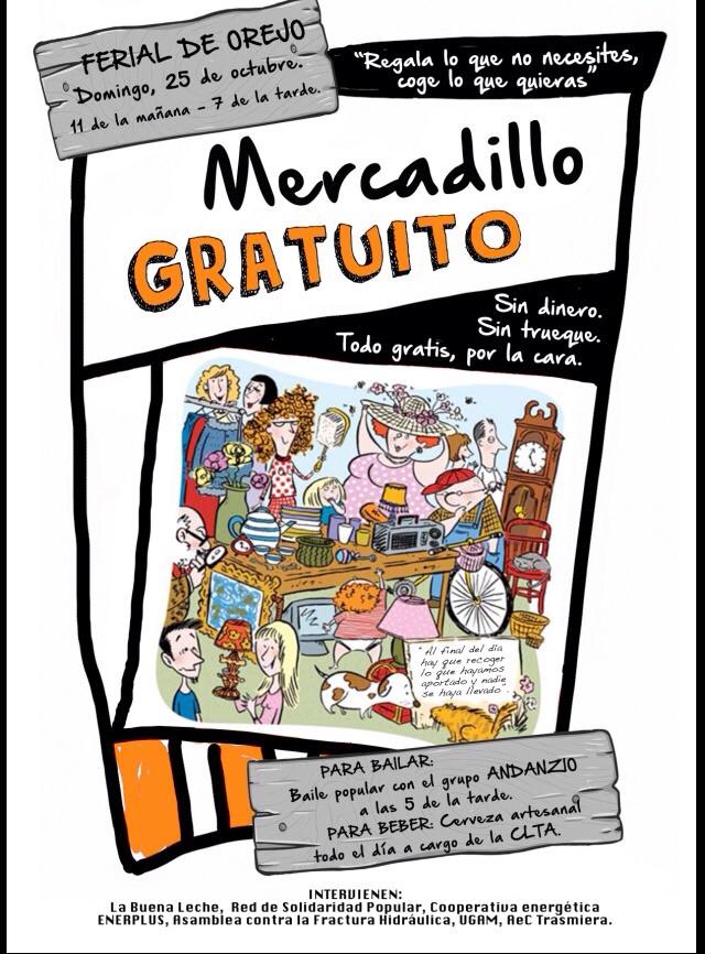 Cartel de presentación del Mercadillo de Ojedo.