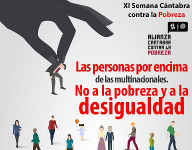 Cartel de presentación de la XI Semana contra la Pobreza.