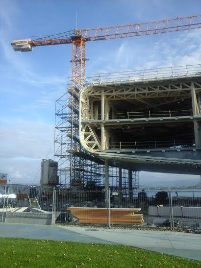 El Centro Botín aún en obras.