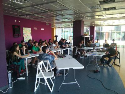 Uno de los talleres que tuvo lugar en el Culture Game Fest. Foto: Concano Games.