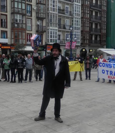 Acción teatral contra el TTIP