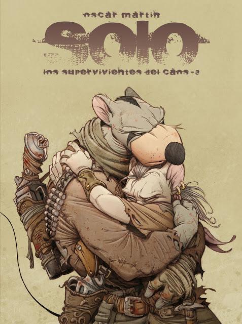 Solo, la rata que lucha en medio de un mundo apocalíptico y que dibuja el torrelaveguense Álvaro Iglesias