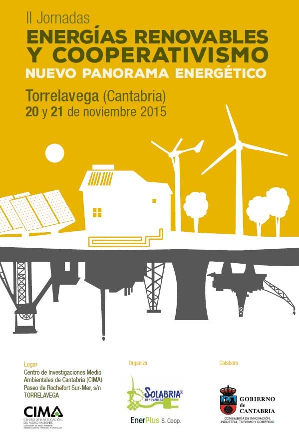 Estas serán las II Jornadas sobre energías renovables y cooperativismo.