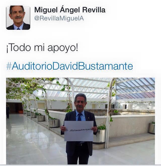 Miguel Ángel Revilla llegó a apoyar la petición por su twitter.