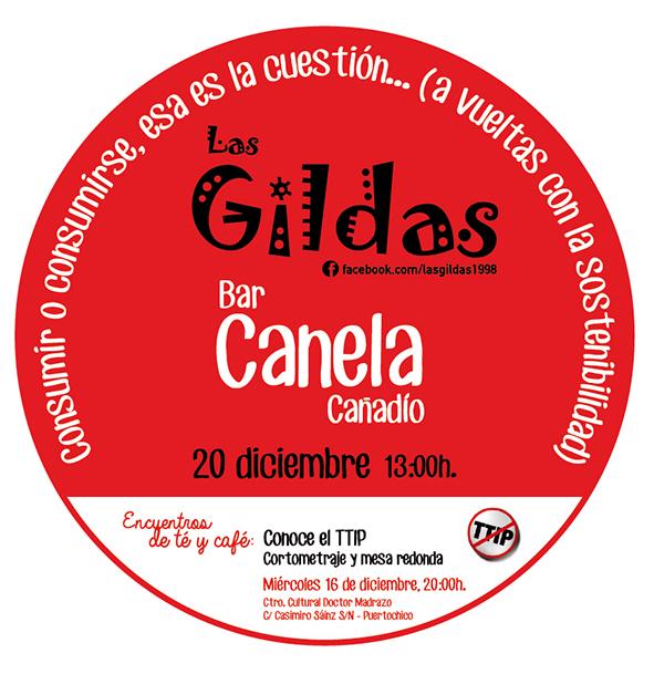 Cartel de presentación de la próxima parada dominical de Las Gildas.