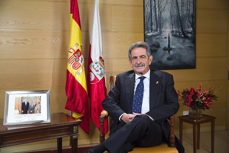 Miguel Ángel Revilla durante su mensaje navideño. Foto: Nacho Romero