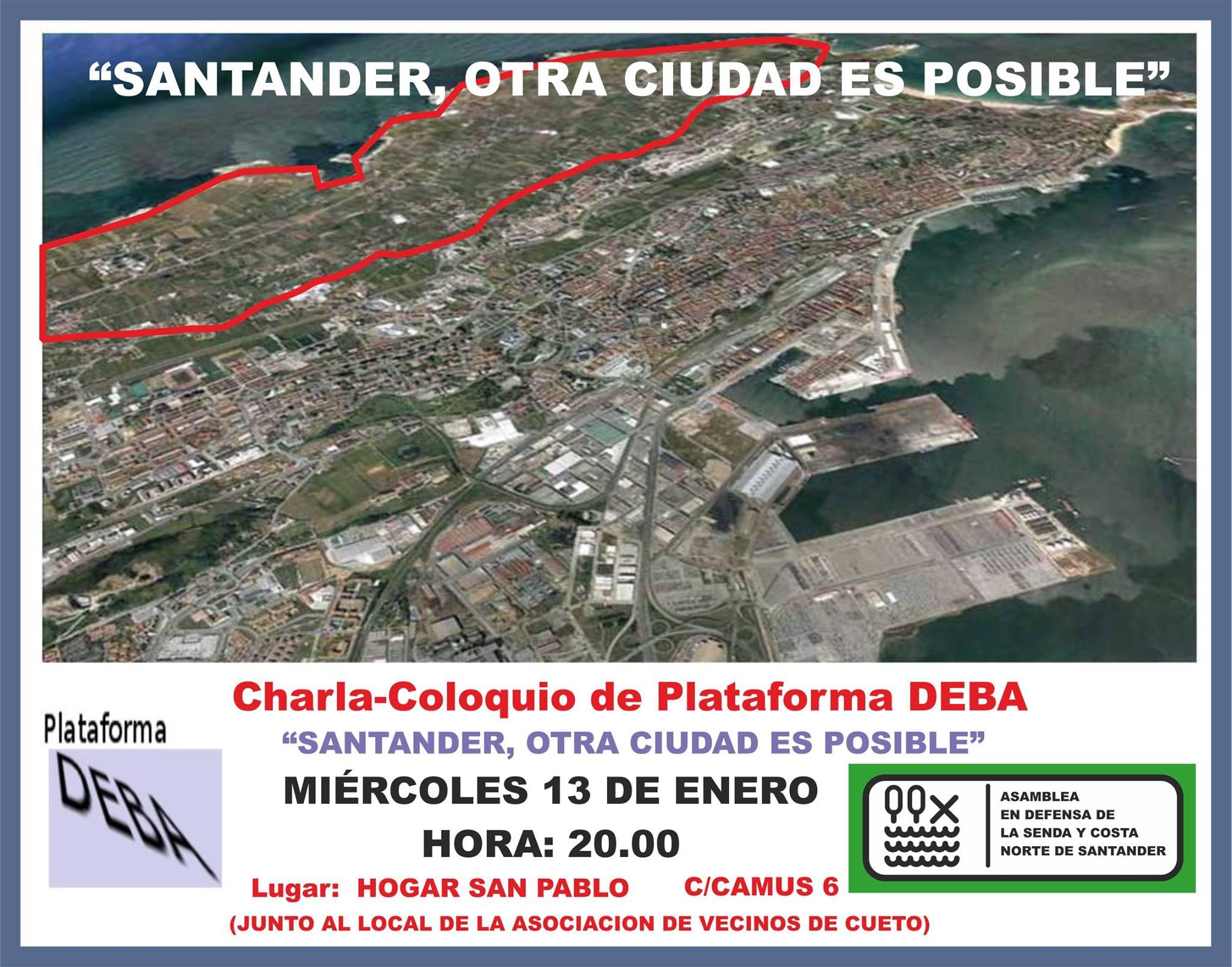 La  charla-coloquio 'Santander, otra ciudad es posible' se ha realizado en diferentes lugares de Santander.