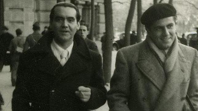 Federico García Lorca y Rafael Rodríguez Rapún (FOTO: Fundacíon García Lorca/ABC)