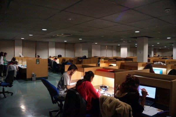 Estudiando de noche