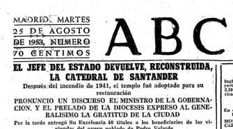 La prensa nacional se hizo eco de la inauguración de la catedral tras su reconstrucción