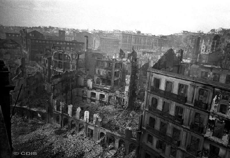 Edifcios afectados por el incendio de Santander