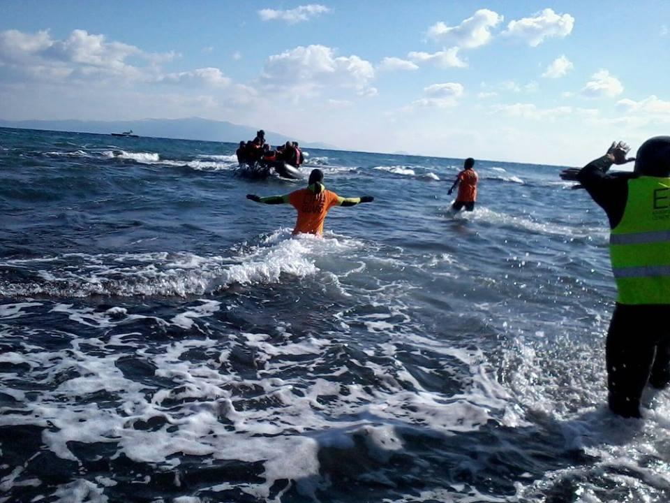 Llegada de refugiados a Lesbos (Grecia) Foto: PROEM-AID