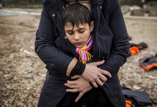 Foto de refugiados realizada por el reportero cántabro Olmo Calvo