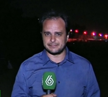Alberto Sicilia durante una de sus coberturas