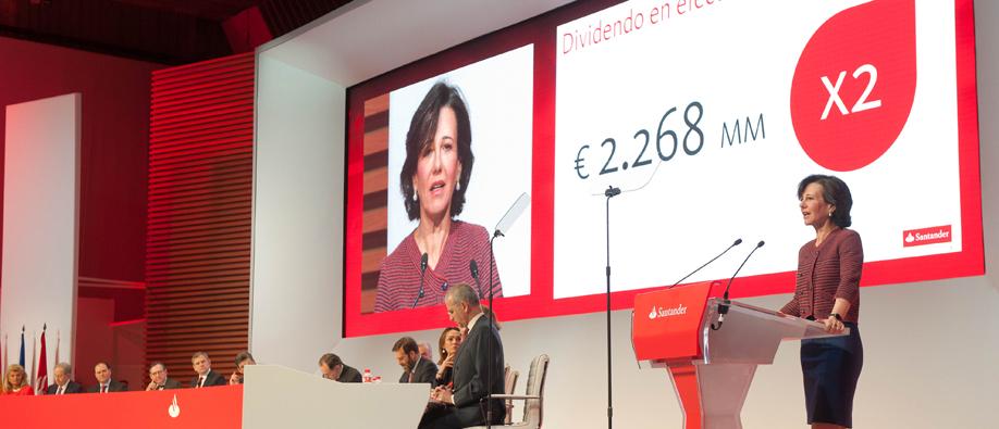 Junta del Santander, presidida por Ana Patricia Botín