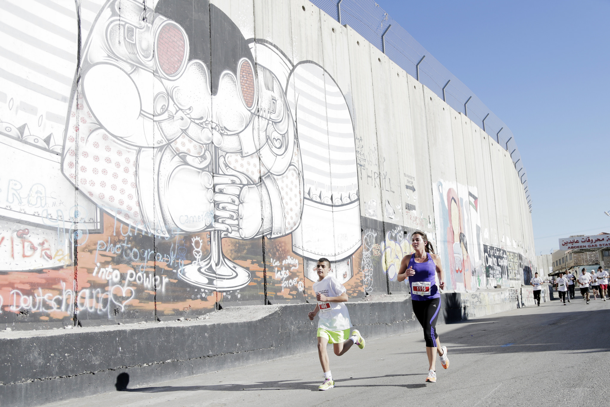 Corriendo junto al muro
