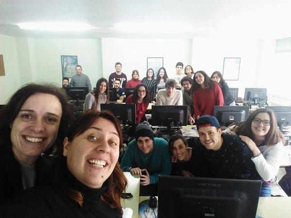 Ruth Carrasco junto a alumnos de uno de los cursos de formación
