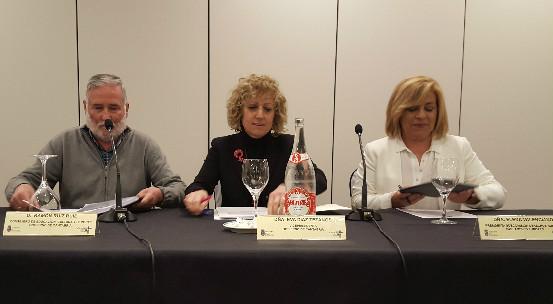 Los ponentes en la conferencia sobre la crisis de refugiados.