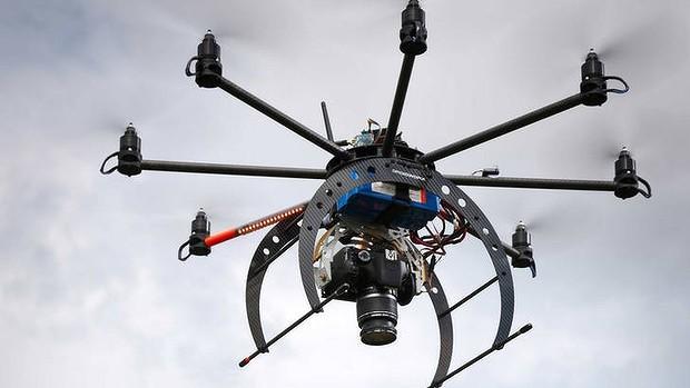 Dron usado para la ingenería