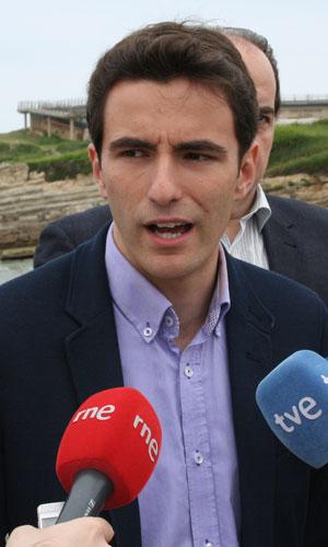 Pedro Casares, portavoz del PSOE en el Ayuntamiento de Santander