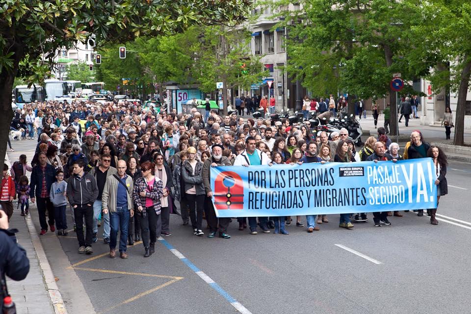 Manifestación de apoyo a los refugiados