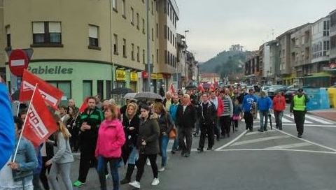 Manifestación de los trabajadores de Tinamenor