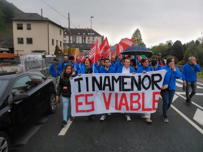 Los trabajadores de Tinamenor se manifestaron pidiendo la continuidad de la planta