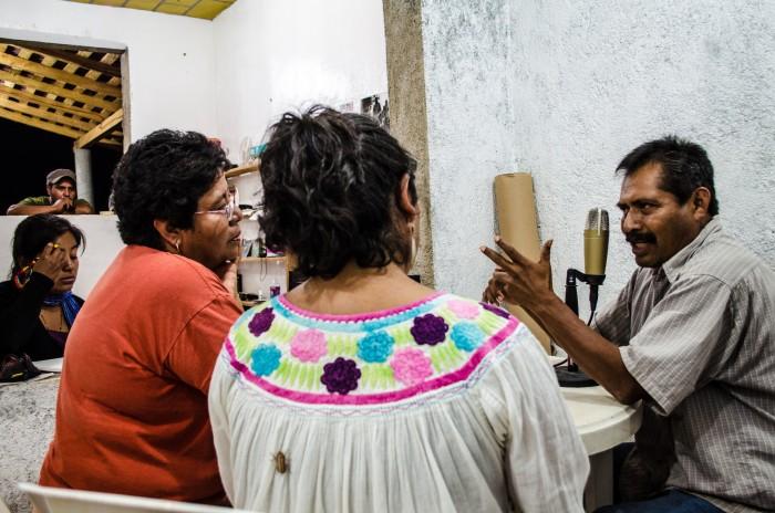 Radio Zapata durante sus emisiones.