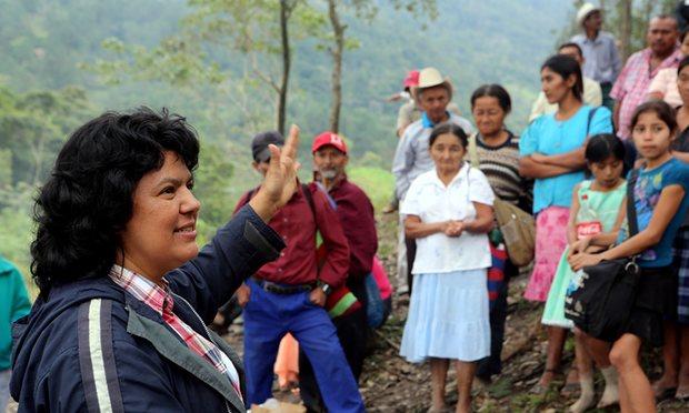 La activista Berta Cáceres