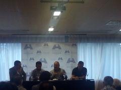 Ángel Martín, Manu Preciado, Alfredo Relaño y Roberto González durante la charla.