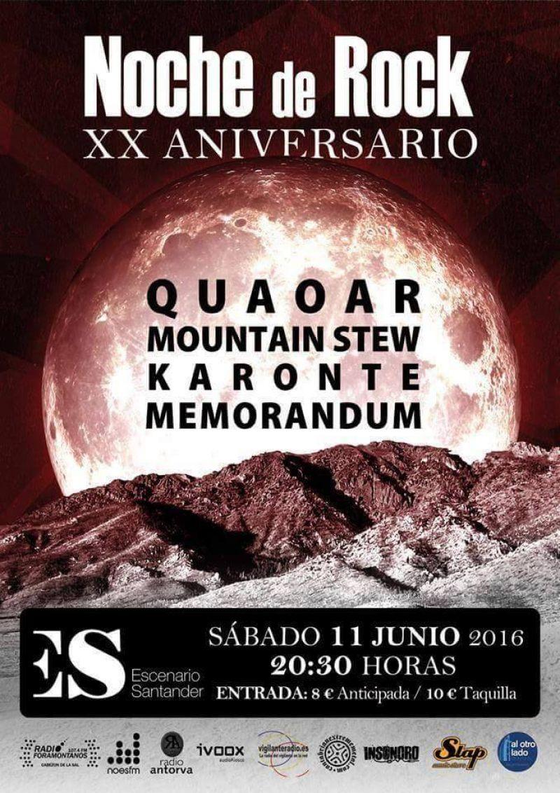 Noche de Rock celebra sus 20 años en un concierto especial en Escenario Santander.