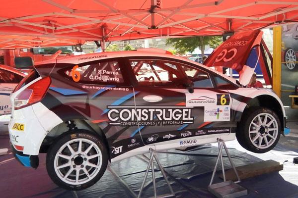 El coche del cántabro Surhayen Pernía, casi a punto para el Rallye Santander Cantabria