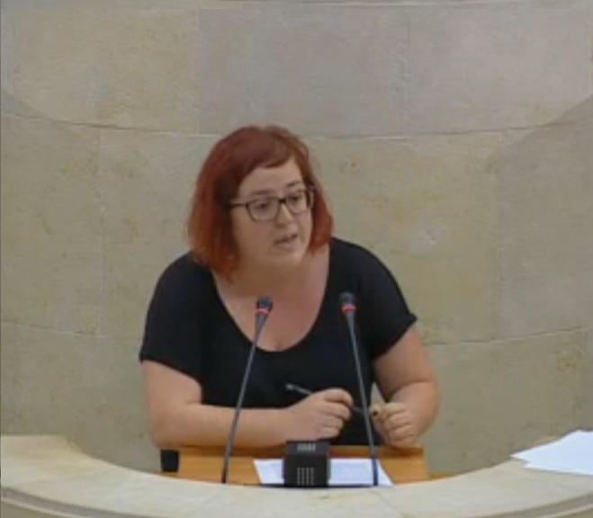 Verónica Ordóñez, diputada de Podemos.