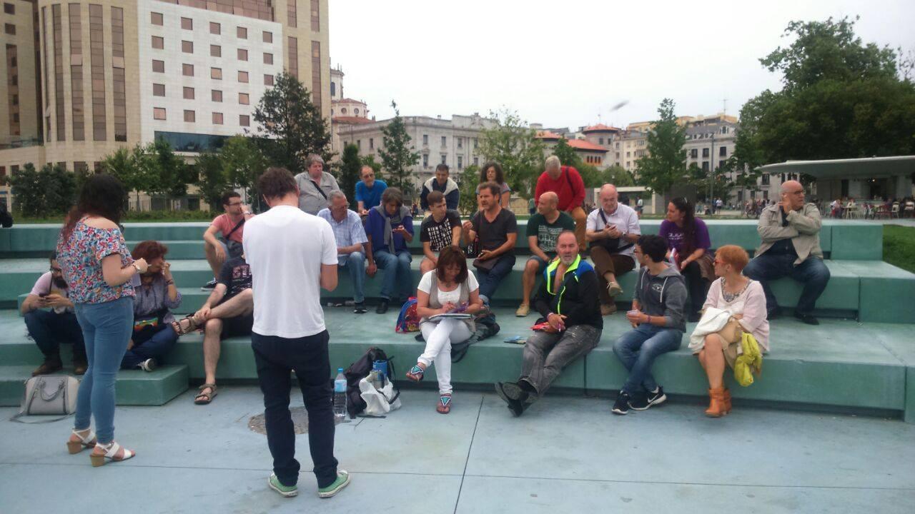 Podemos Santander retoma las asambleas en las calles. Foto: Podemos.