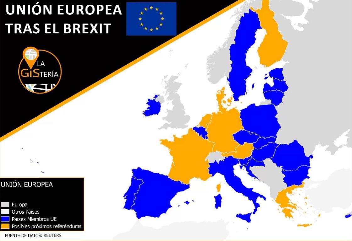 Esta es la Europa que queda tras el Bréxit.