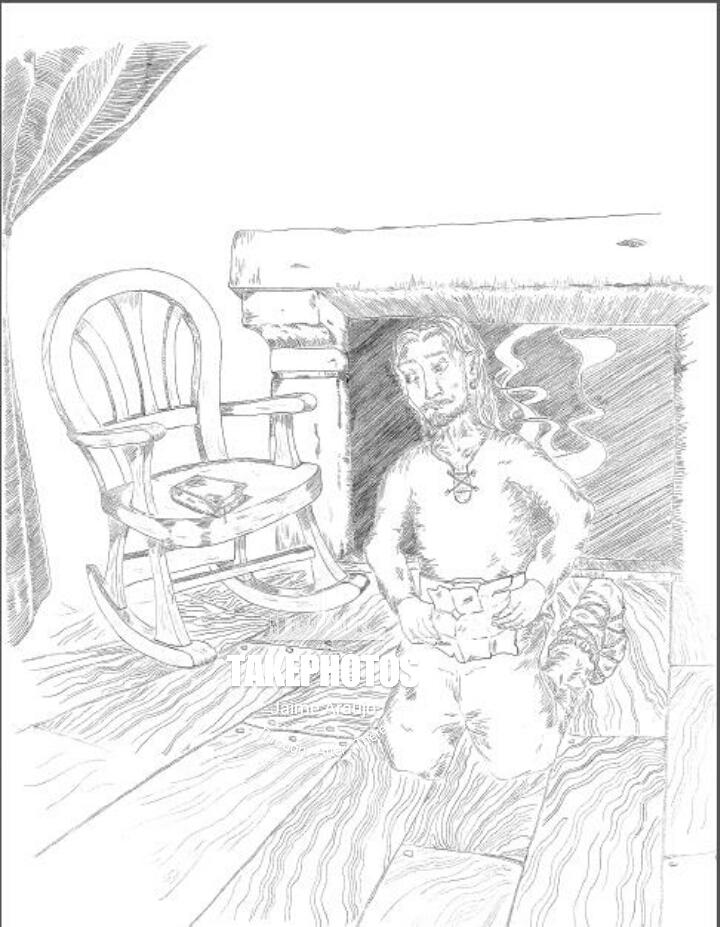 Uno de los bocetos en los que Sergio y Jaime Araujo trabajan para ilustrar el libro.