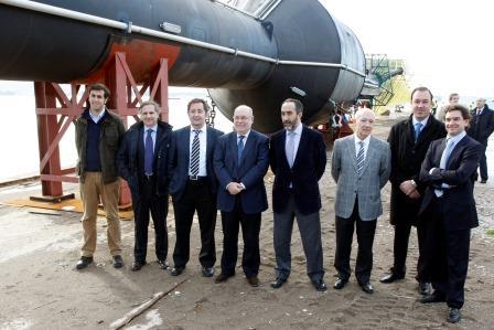 Salvador Blanco y otros protagonistas del proyecto IDERMAR